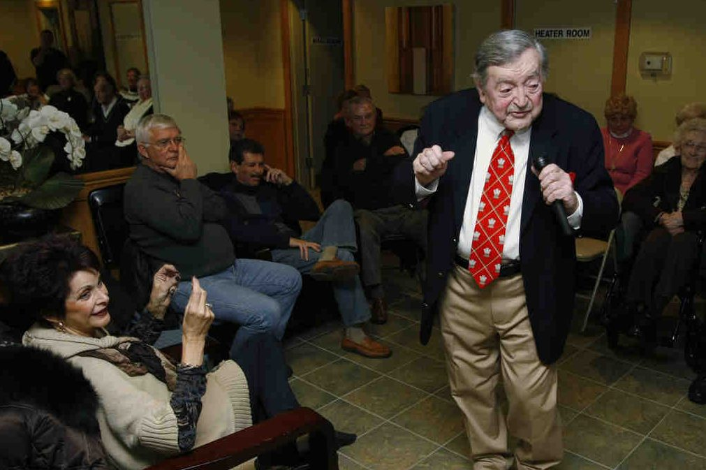 Harry Prime sings and entertains in 2010 at a Warrington condo complex