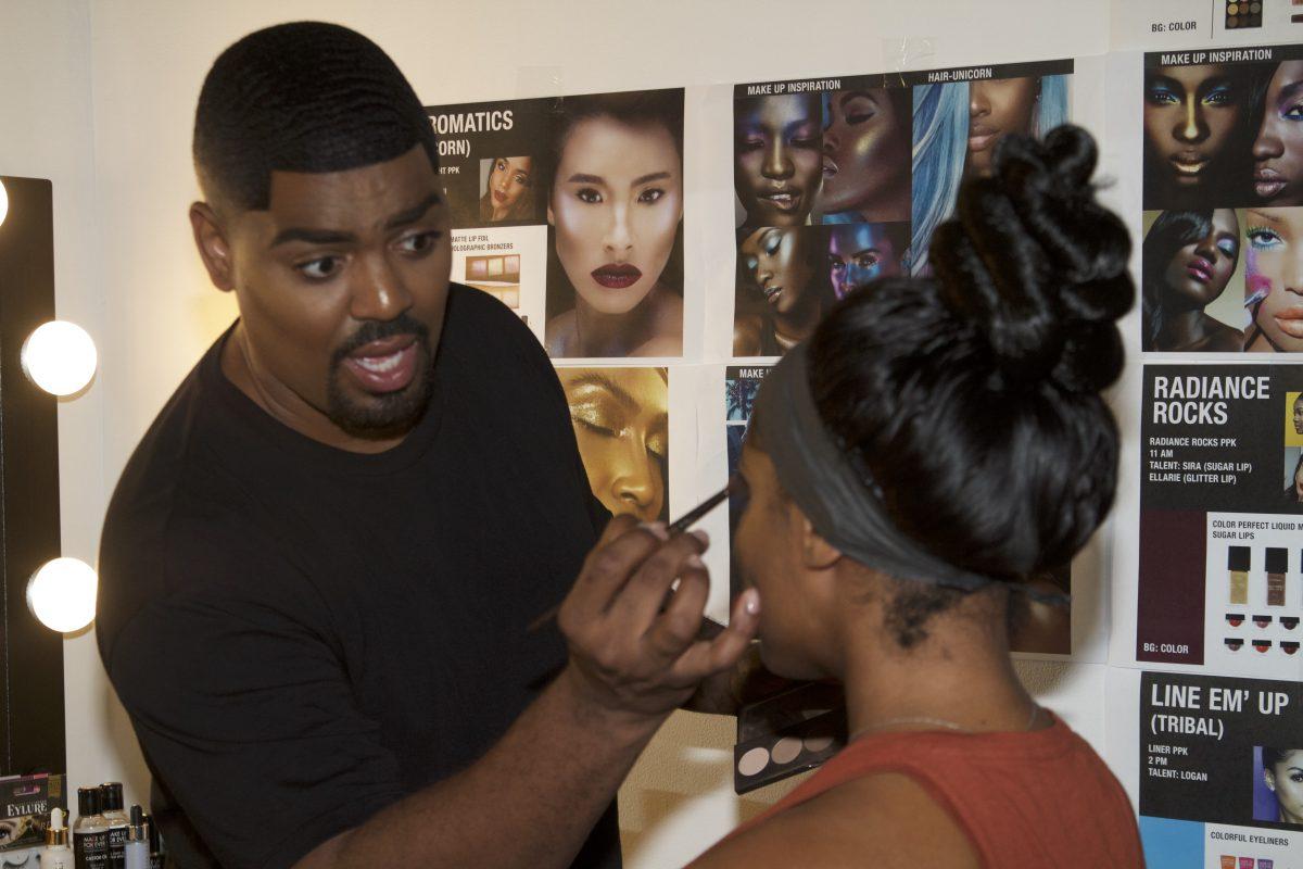 Jacen Bowman, the makeup artist behind this Black Radiance ad in all major drug stores like Target, CVS and Walgreens.