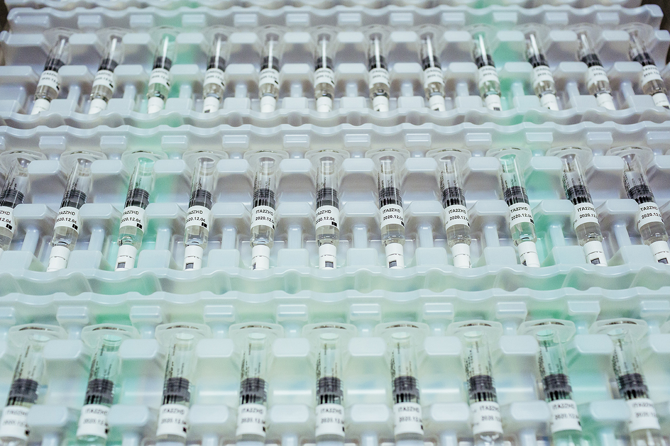 Vials of Bayer's factor VIII product Kogenate at the company's factory in Berkeley, Calif.