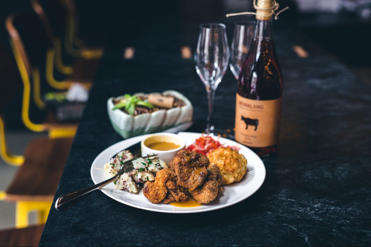 Kensington Quarters will pair an array of sparkling wines with buttermilk-battered fried chicken during its March 27 Philly Wine Week event.