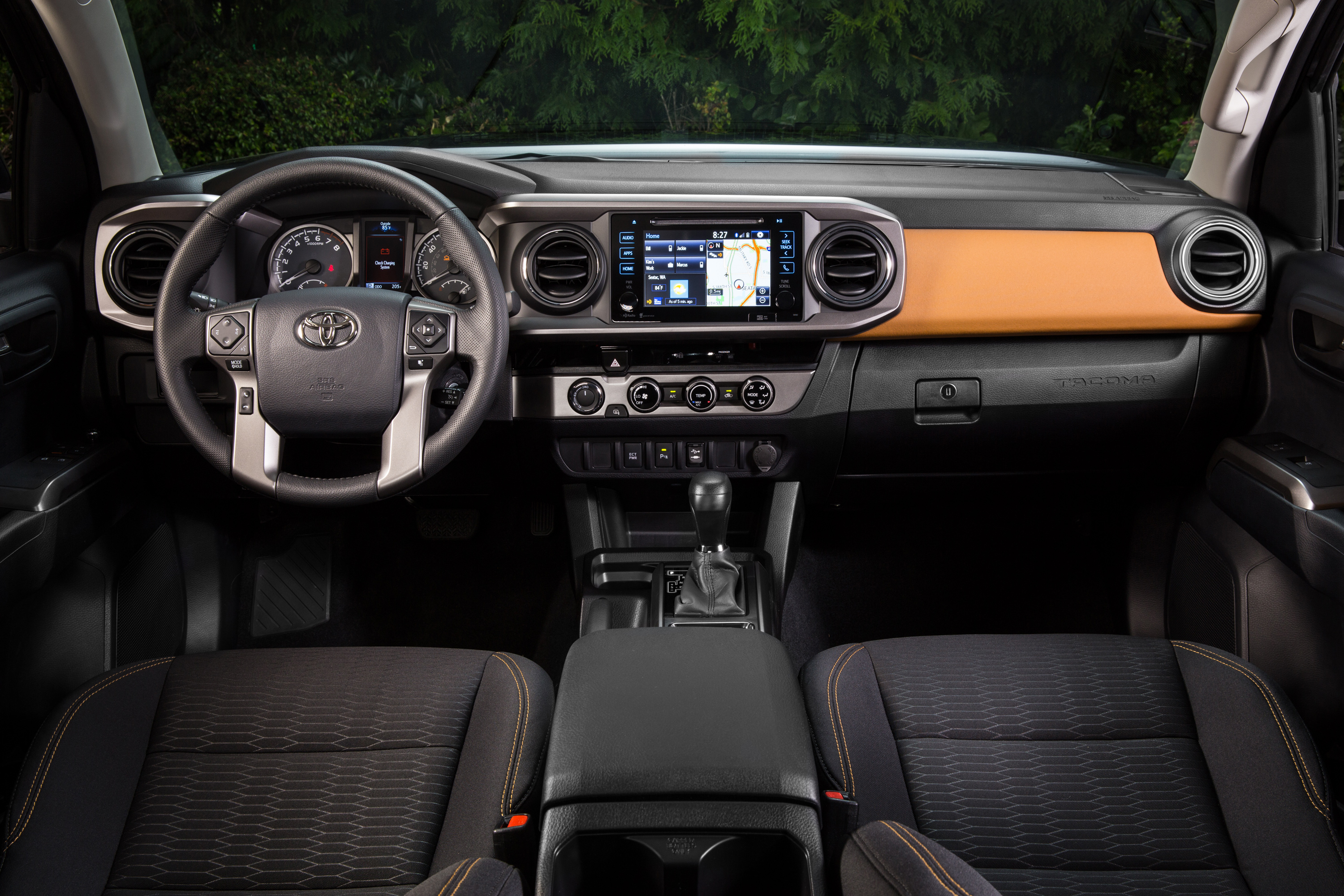 The interior of the 2018 Toyota Tacoma may seem dated but functionally it's pretty unbeatable.