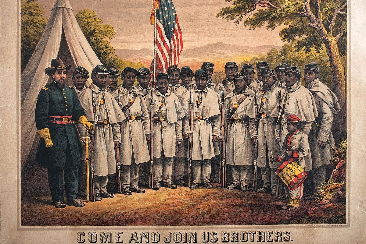 Recruitment poster for the U.S. Colored Troops during the Civil War