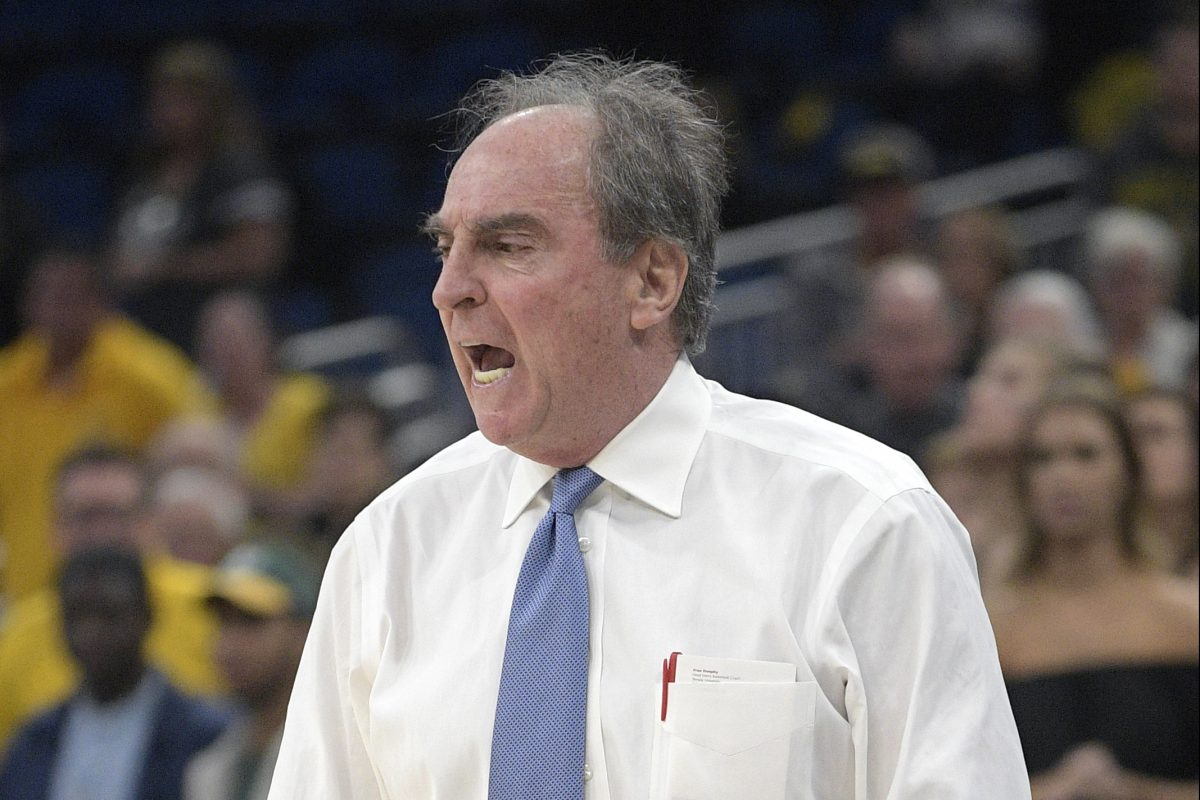 Temple head coach Fran Dunphy calls out instructions during the first half of the American Athletic Conference quarterfinal against Wichita State Friday in Orlando.