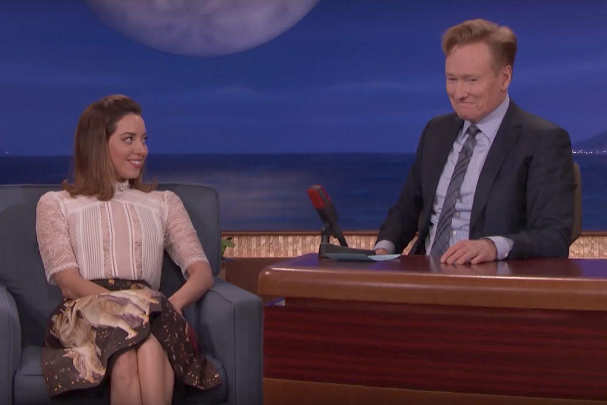 Aubrey Plaza appears on 'Conan' on Monday, June 19, 2017.