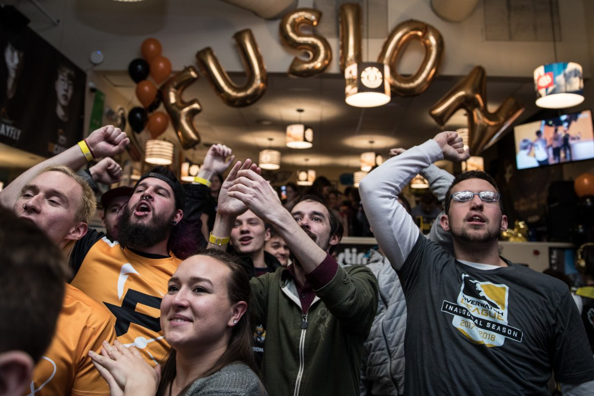The Fusion's season opening watch party was held at Wahoo's in University City on Jan. 11, 2018.  About 450 fans attended to watch the Fusion defeat the Houston Outlaws, the company said.