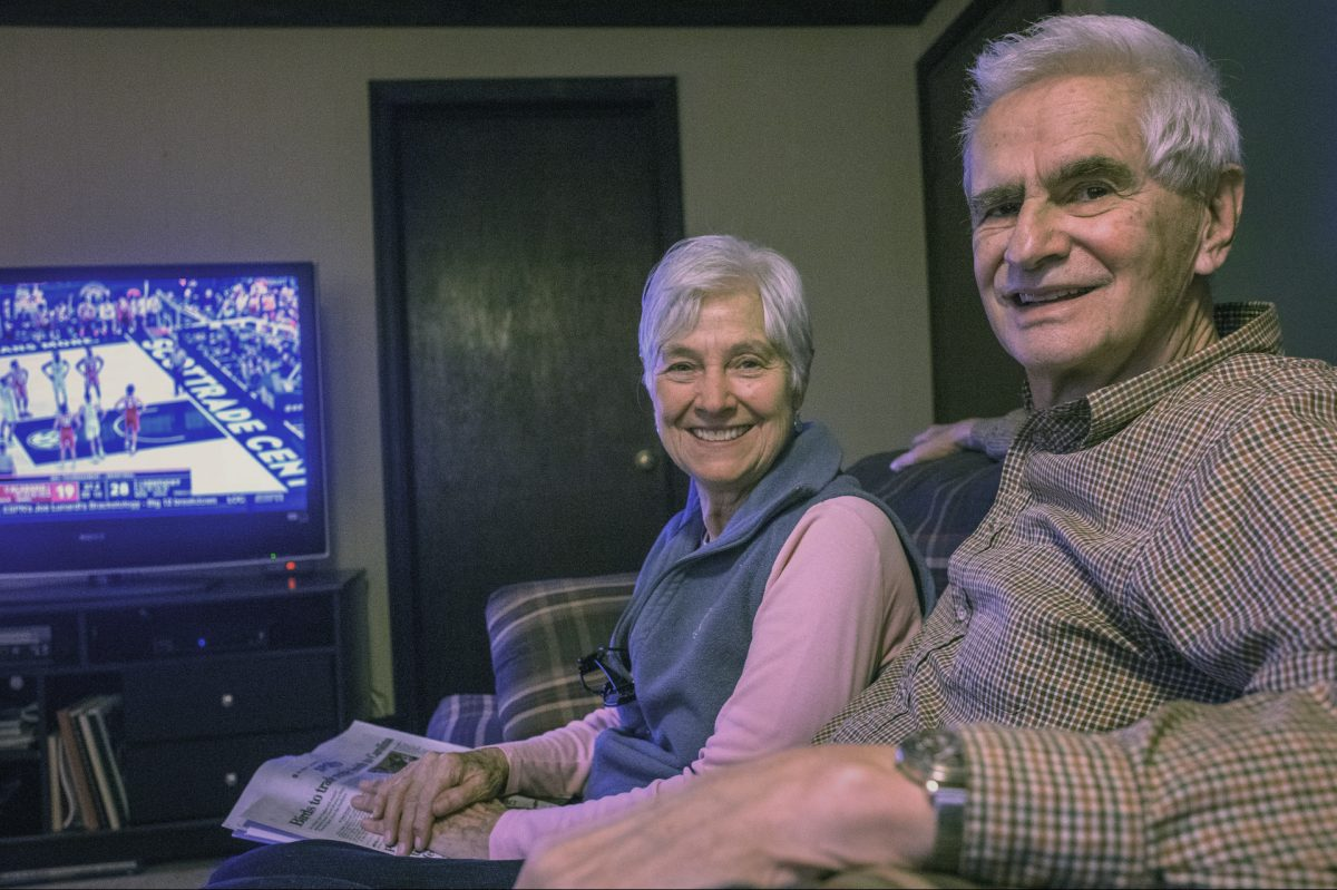 Ron and Joy Pott of Malvern watch sports together to help Ron cope with his Alzheimer's  Disease. .