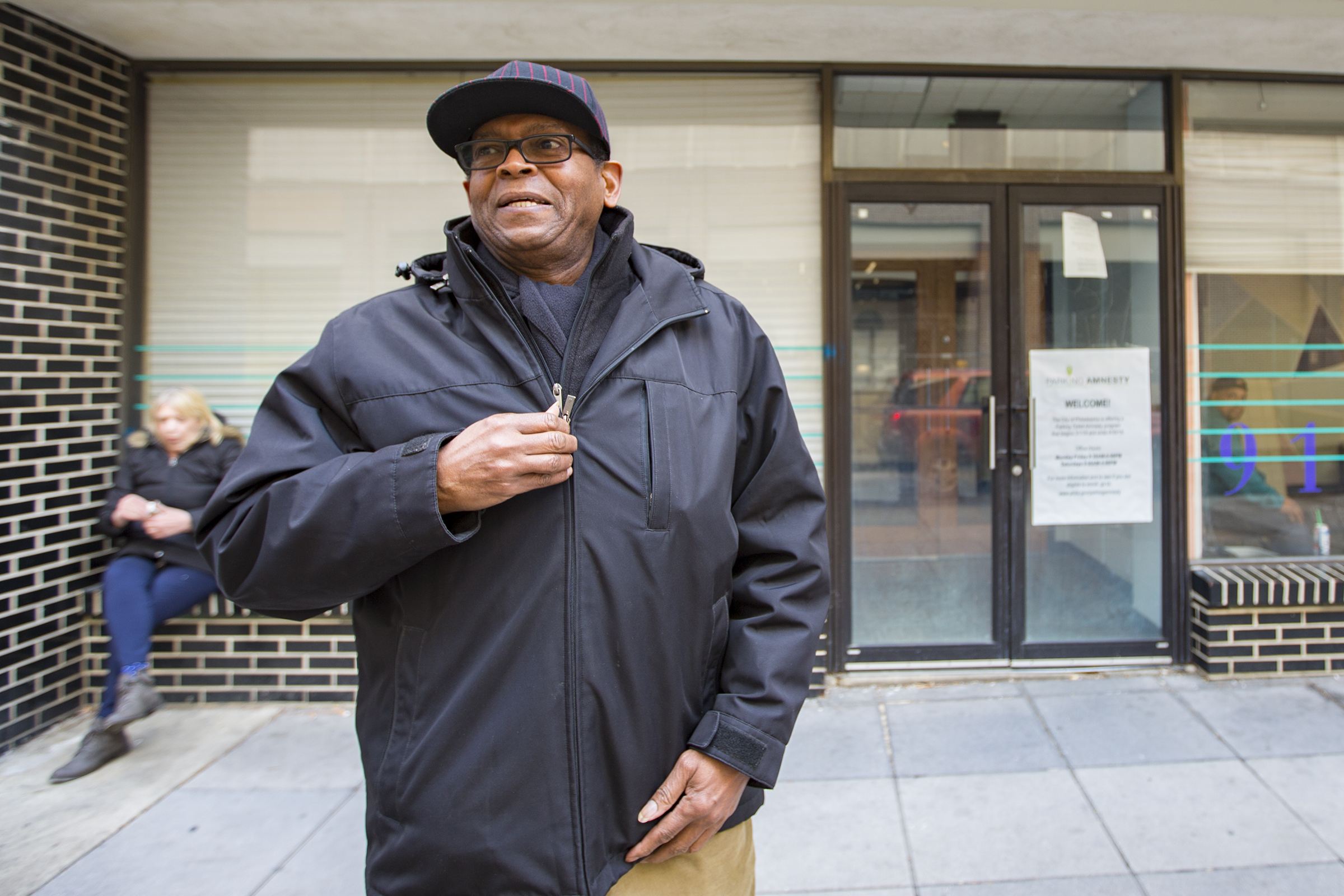 Philadelphia Parking Authority is offering an amnesty program for unpaid parking tickets before 2013. LeVon Wadley, who just walked out of the PPA building located on 9th and Filbert, had no luck and paid his ticket in full. Philadelphia, March 13th, 2018. JAMES BLOCKER / Staff Photographer