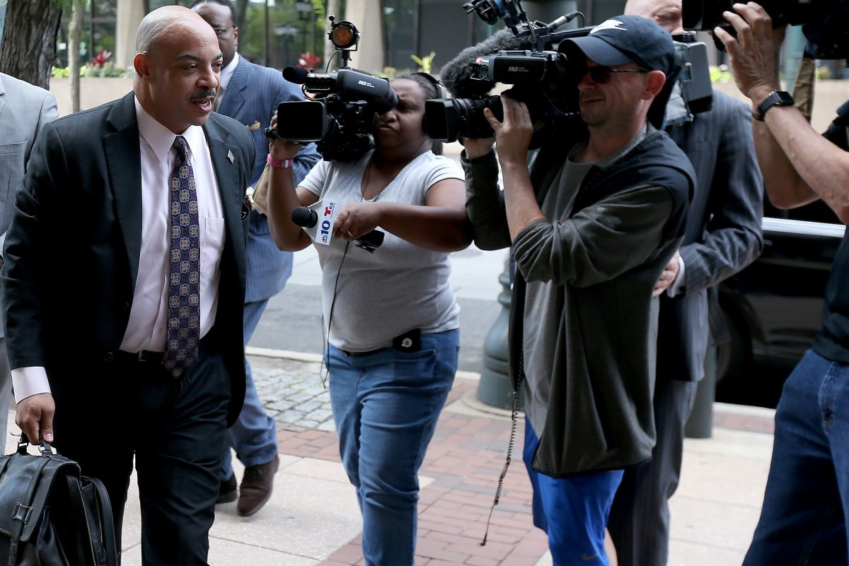DA Seth Williams walks into the federal courthouse.