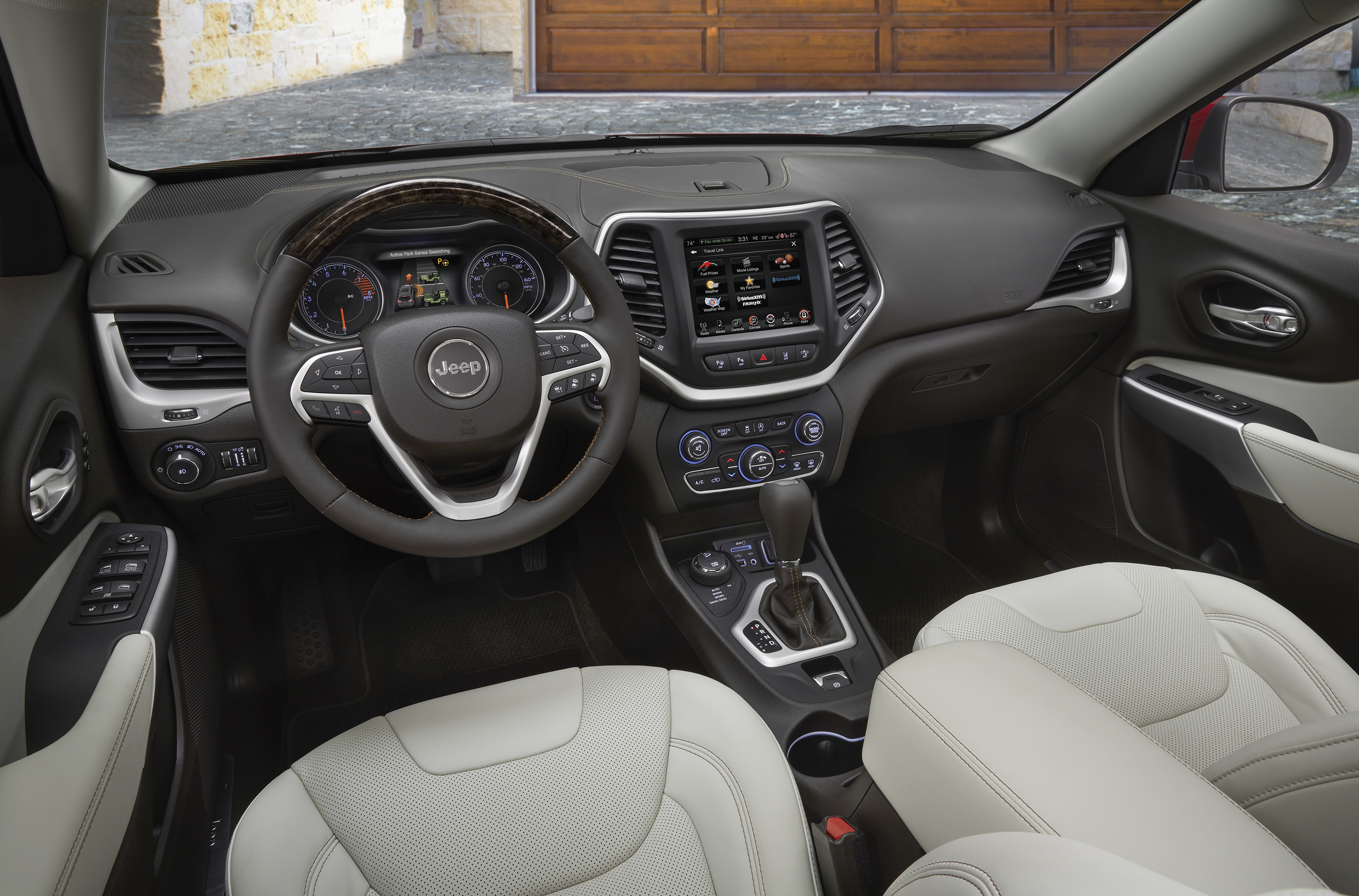 The layout of the controls in the 2018 Jeep Cherokee is logical and the look is attractive. But the seats leave a bit to be desired.