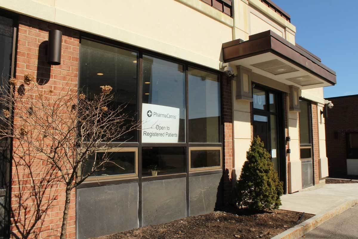 A PharmaCann medical marijuana dispensary in Albany, N.Y. The company plans on opening a dispensary near the Franklin Mills Mall. The mall is seeking to block it.