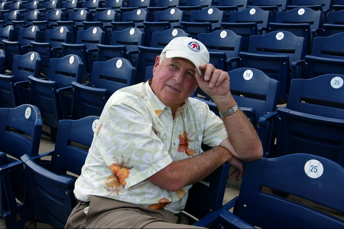 Pat Gillick, in the stands in Clearwater back in 2006.