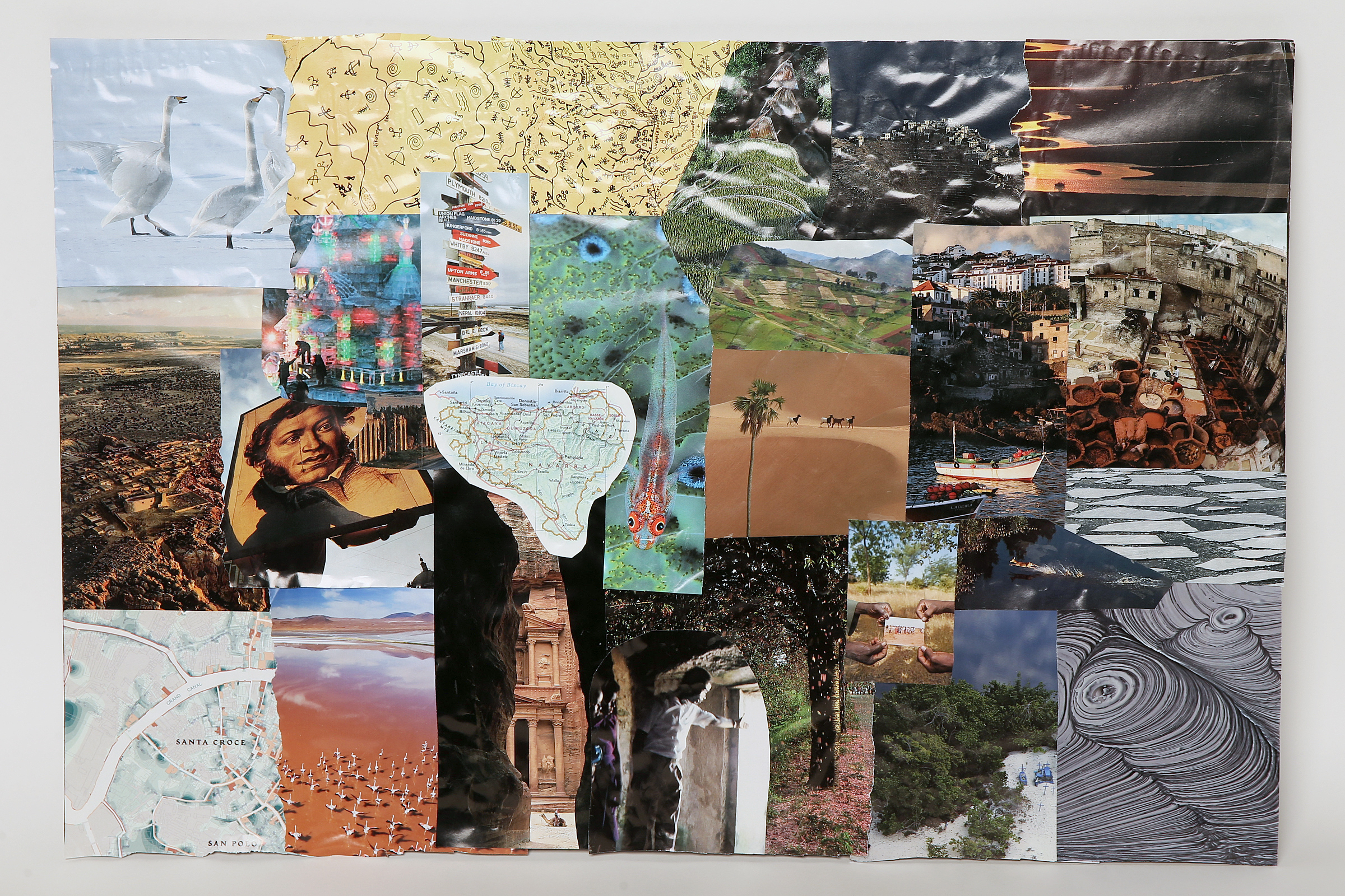 The final product: Inquirer staff writer Cassie Owens´ travel vision board.