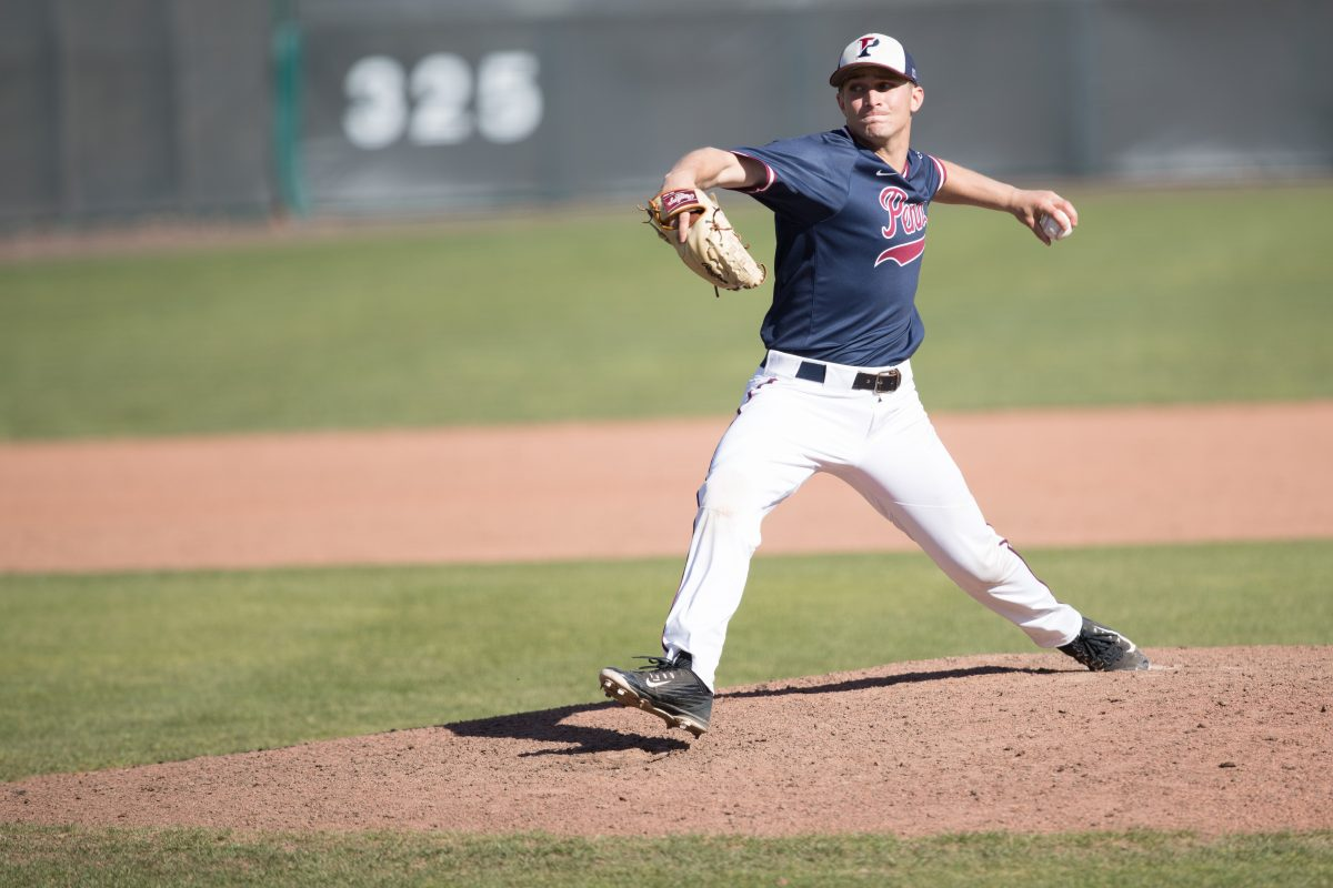 Lefthander Adam Bleday pitches for the Penn baseball team. Bleday was drafted by the Houston Astros in the 27th round last week. Credit: Courtesy of Penn Athletics