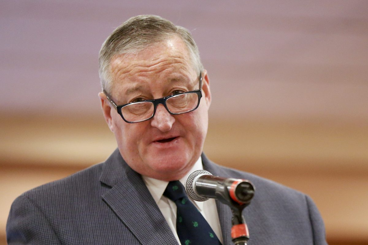 Mayor Kenney announces a project to begin this spring to add protected bike lanes to Market Street and JFK Boulevard. His remarks came at Philadelphia's Vision Zero 2018 Bike Conference.