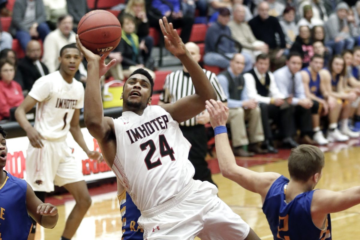 Donta Scott posted 27 points and nine rebounds as Imhotep Charter turned back Bethlehem Catholic, 65-60, in Monday's PIAA Class 4A semifinal.