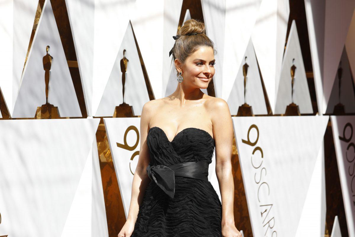 Maria Menounos arrives at the 90th Academy Awards