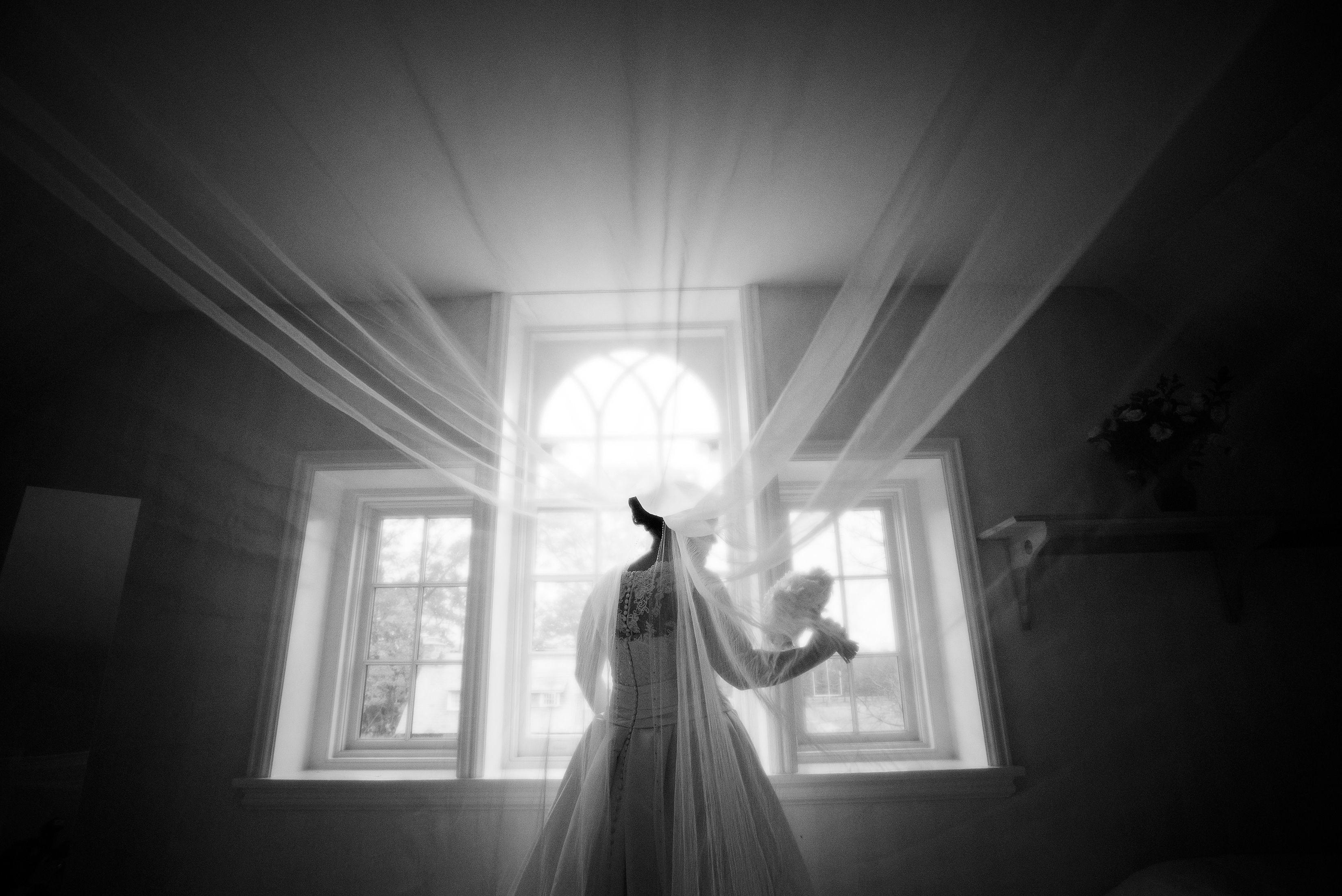 Bride Kiera Murasko-Blank prepares for her wedding at her parents´ East Falls home.