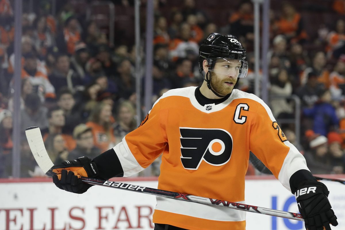 Flyers center Claude Giroux  entered Tuesday's game at Detroit tied with Eric Lindros for fifth in points in Flyers' history.
