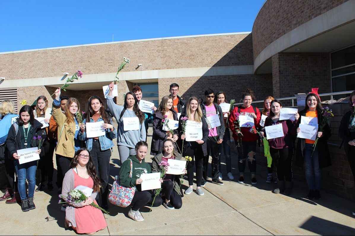 Pennridge High School students gathered for detention last Saturday for defying school orders to stay in school during the national school walkout on March 14 that protested school gun violence after 17 people were killed at a Parkland, Fla. high school.