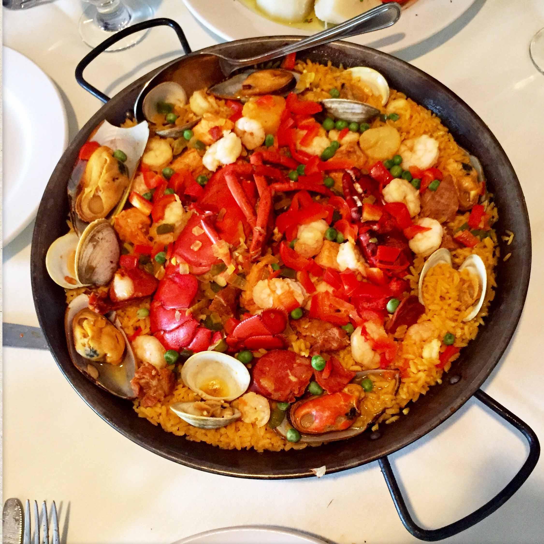 Paella Valenciana from Tio Pepe.