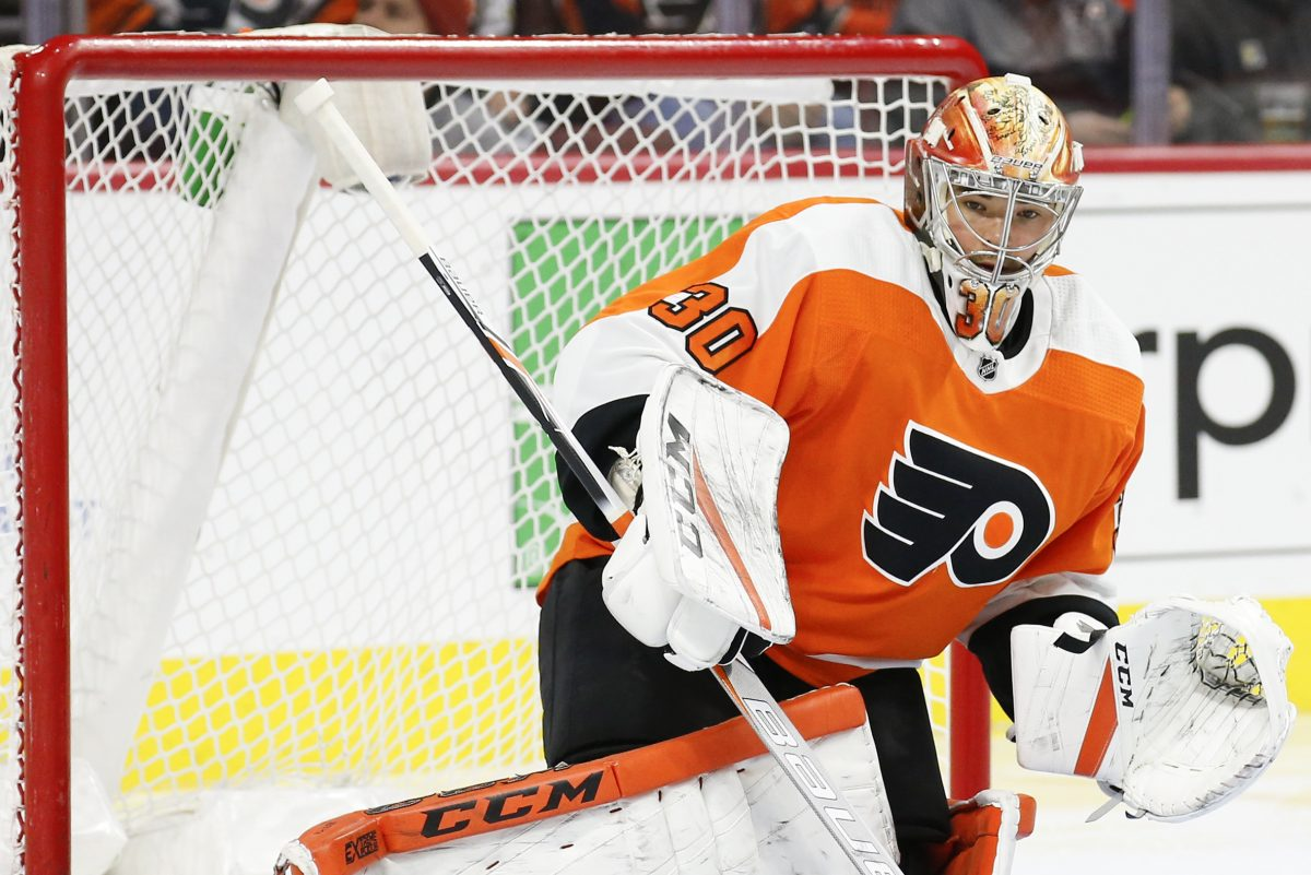Goaltender Michal Neuvirth hopes to return to action during the Flyers' upcoming road trip.