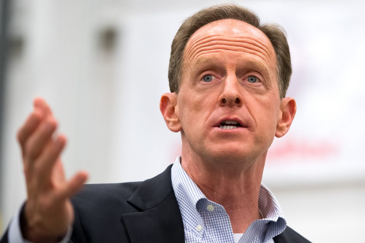 U.S. Sen. Pat Toomey said he hopes for further limits on Medicaid. (CHRISTOPHER DOLAN / Wilkes-Barre Citizens' Voice)