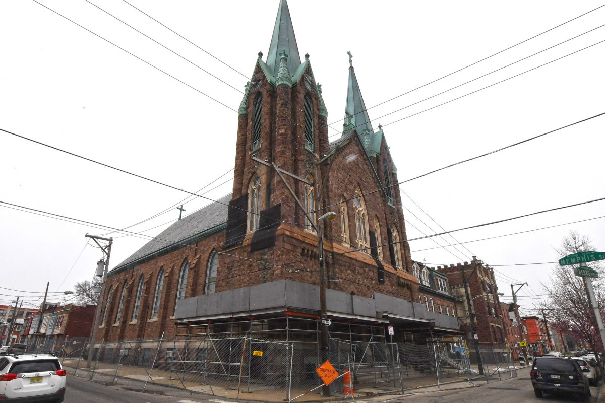 Since being listed on Philadelphia's Historic Register, a protective fence has been erected at St. Laurentius in Fishtown, The 19th-century Polish church has languished — not for want of a developer, but because of a nuisance lawsuit.