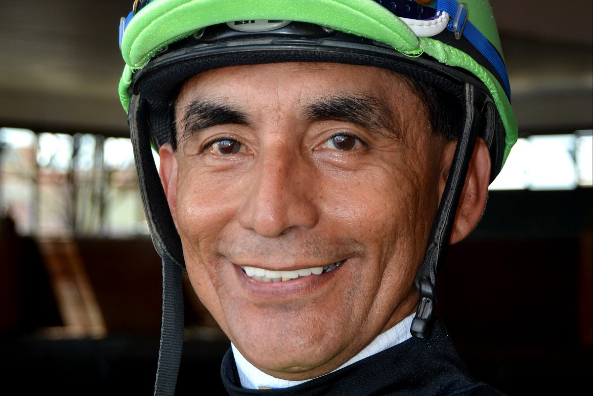 Jockey Jose Flores is on life support after an accident Monday at Parx Racing.