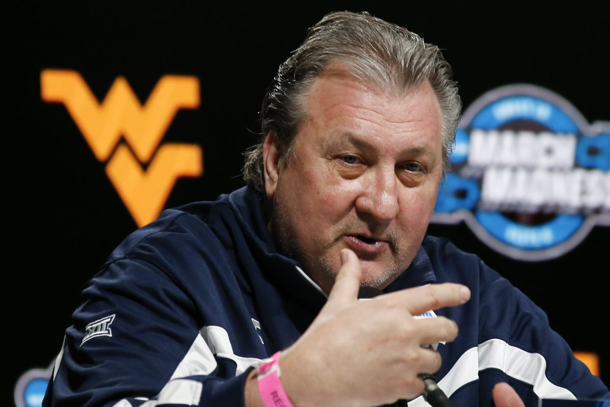 West Virginia Head Coach Bob Huggins answers questions during a media availability on Thursday, March 22, 2018 at TD Garden in Boston. West Virginia plays Villanova in the East Regional round of 16, tomorrow night.
