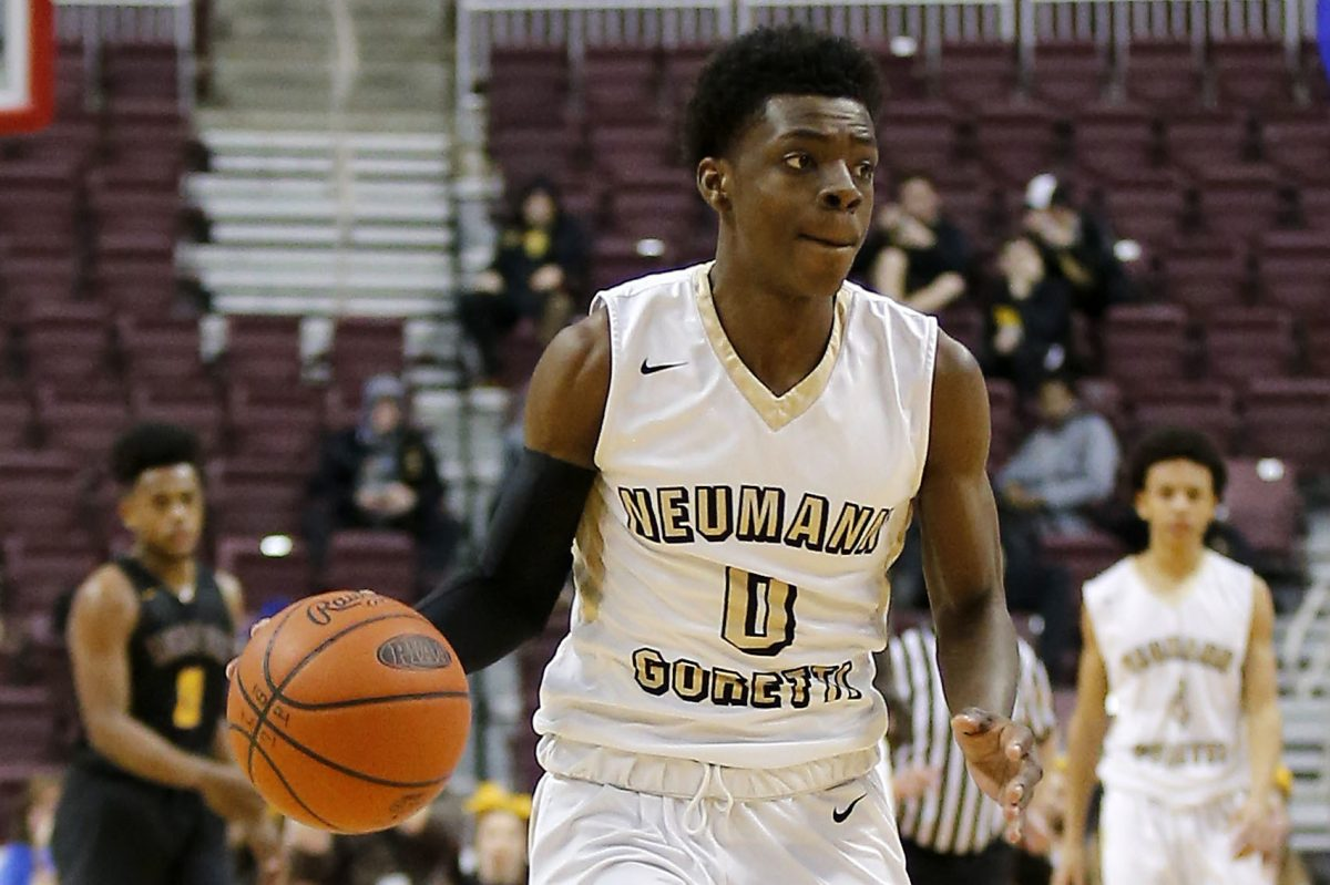 Junior guard Chris Ings and Neumann-Goretti are trying to successfully defend their PIAA Class 3A state championship.
