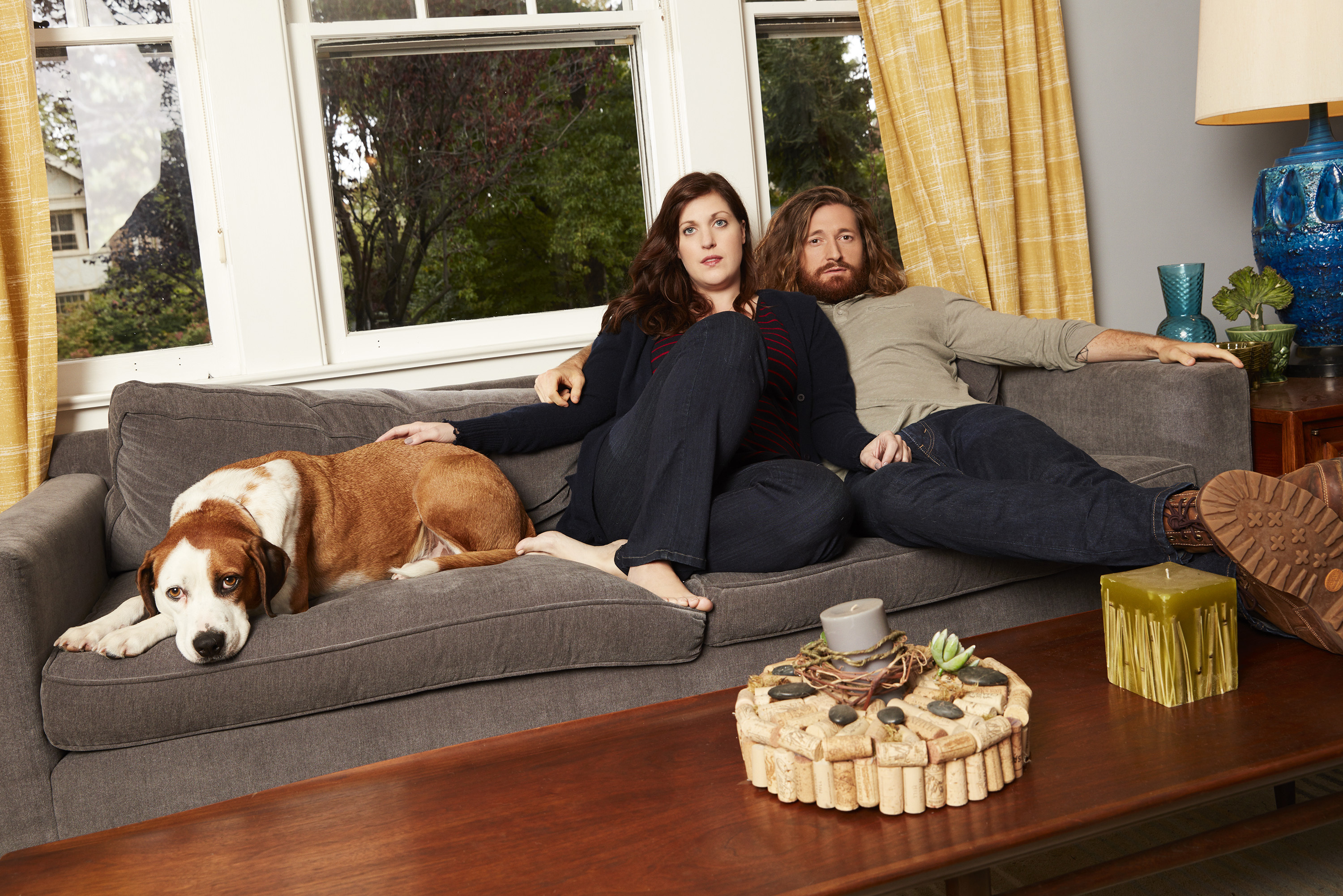 "ABC´s ""Downward Dog"" stars Ned as Martin, Allison Tolman as Nan and Lucas Neff as Jason. (CRAIG SJODIN/ABC)."