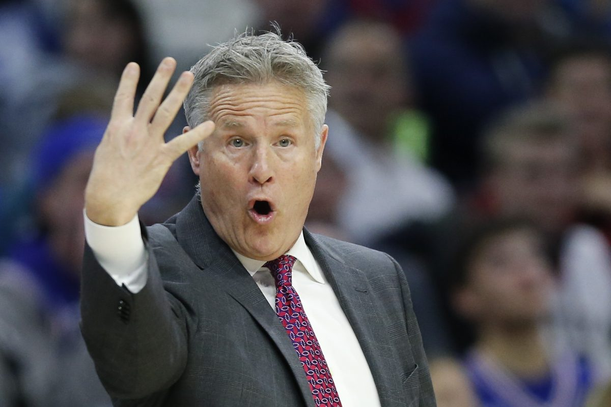 "Brett Brown wants his Sixers to hold onto ""fourth"" place in the Eastern Conference standings."