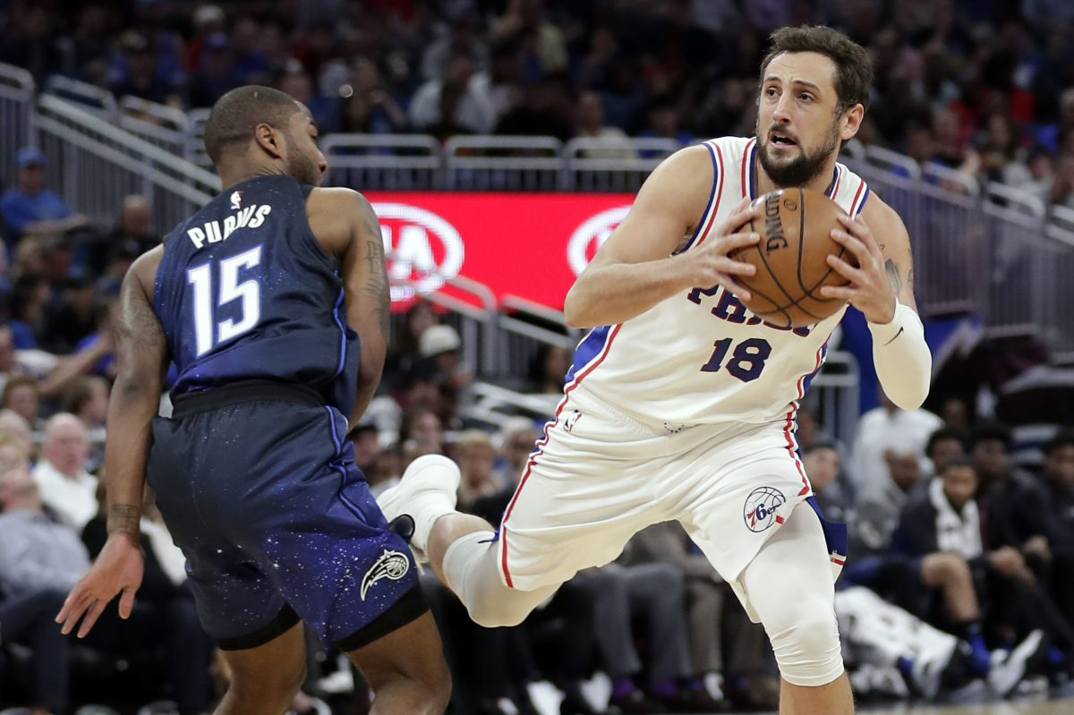 The Philadelphia 76ers had 30 assists on 42 made baskets in their 118-98 win over the Orlando Magic.
