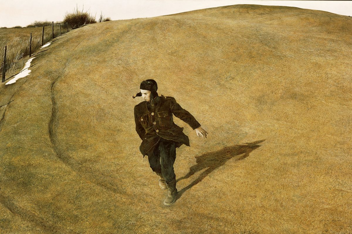 Andrew Wyeth's 'Winter 1946' tempera on panel, North Carolina Museum of Art, Raleigh.