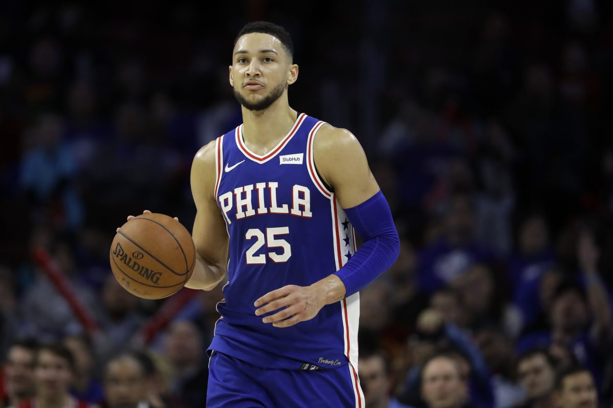 Sixers point guard Ben Simmons.