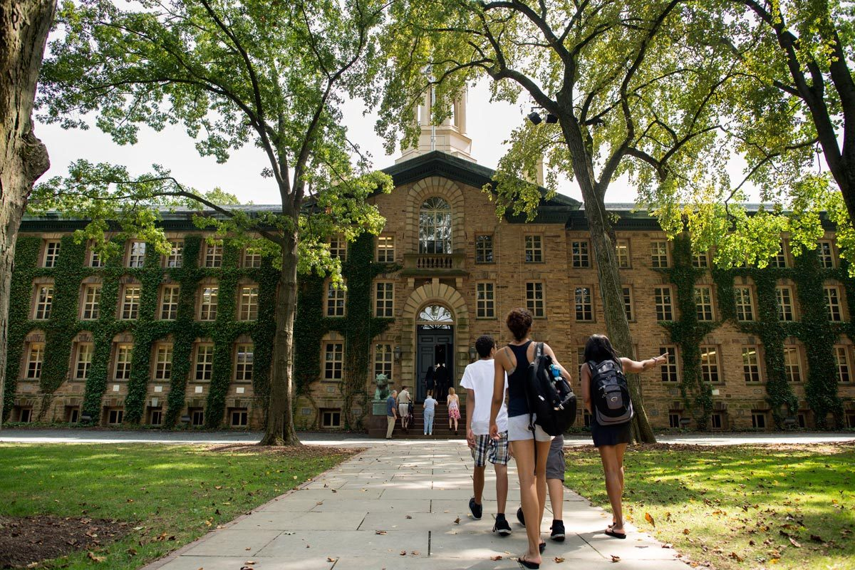 View of the Princeton University Campus in Princeton, New Jersey.