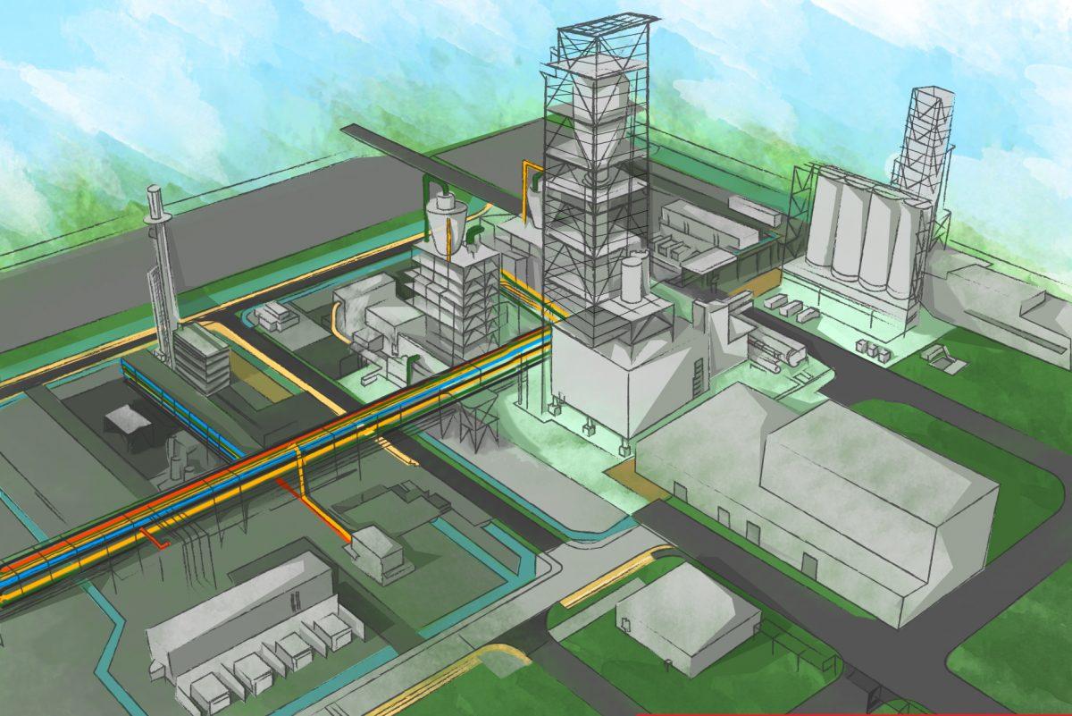 An artist's rendering of Braskem's planned $675 million polypropylene plant in La Porte, Texas.