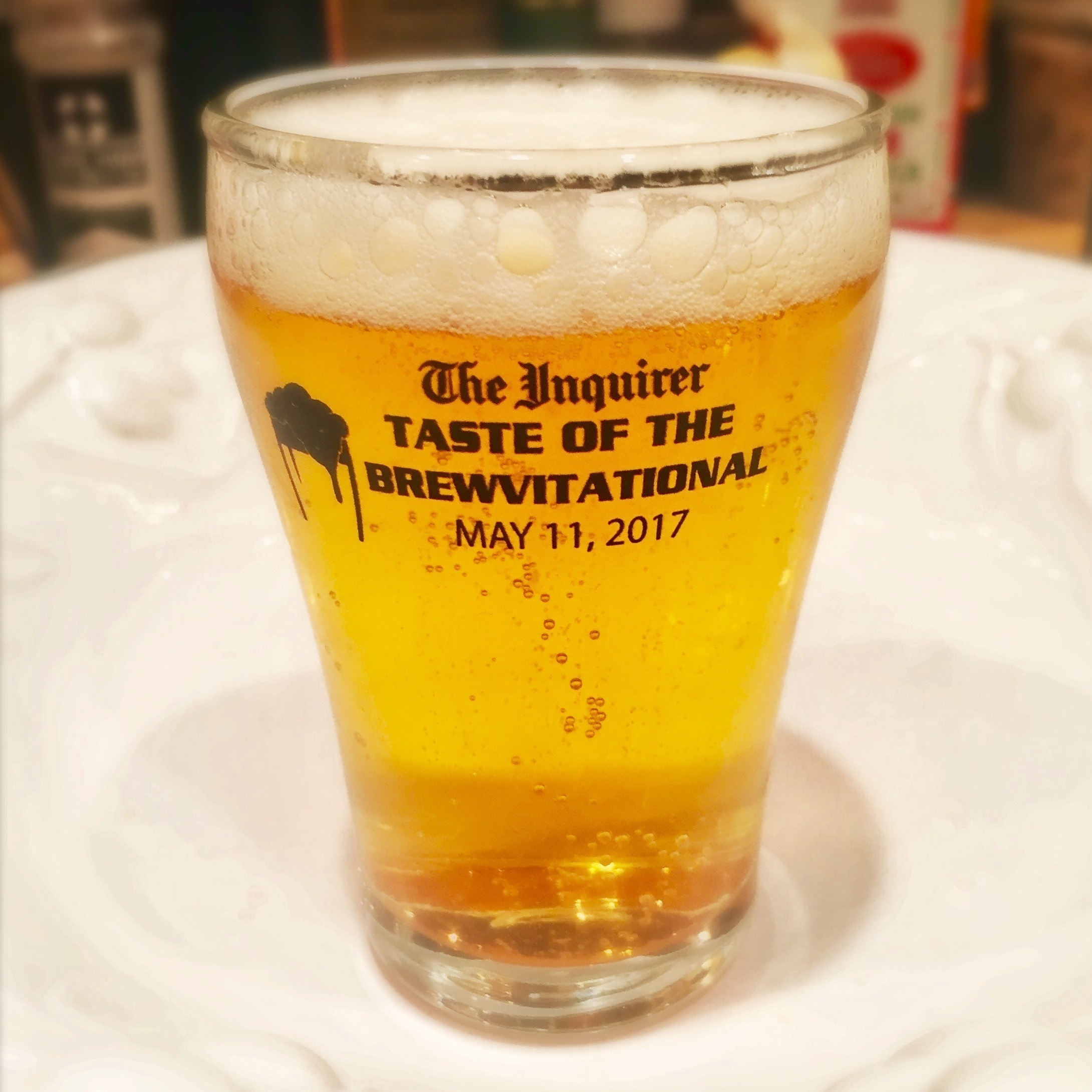 Brewvi swag: mini beer glass for tasting the 50-plus beers featured at the 2017 Taste of the Brewvitational.