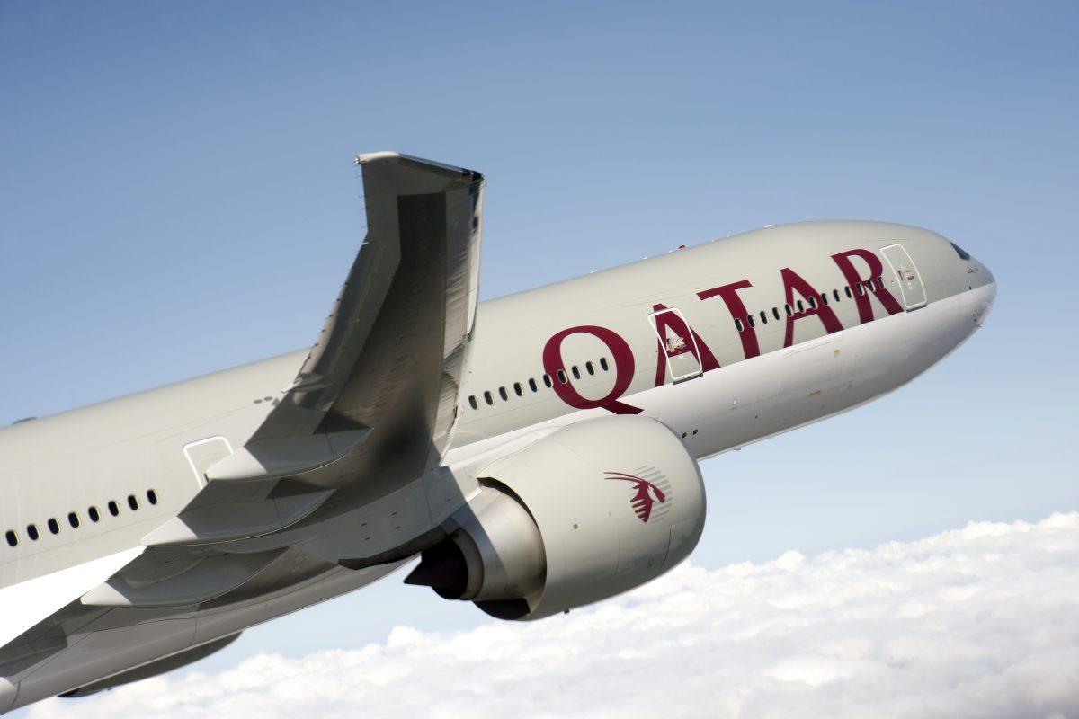 A Qatar Airways' Boeing 777-300 aircraft