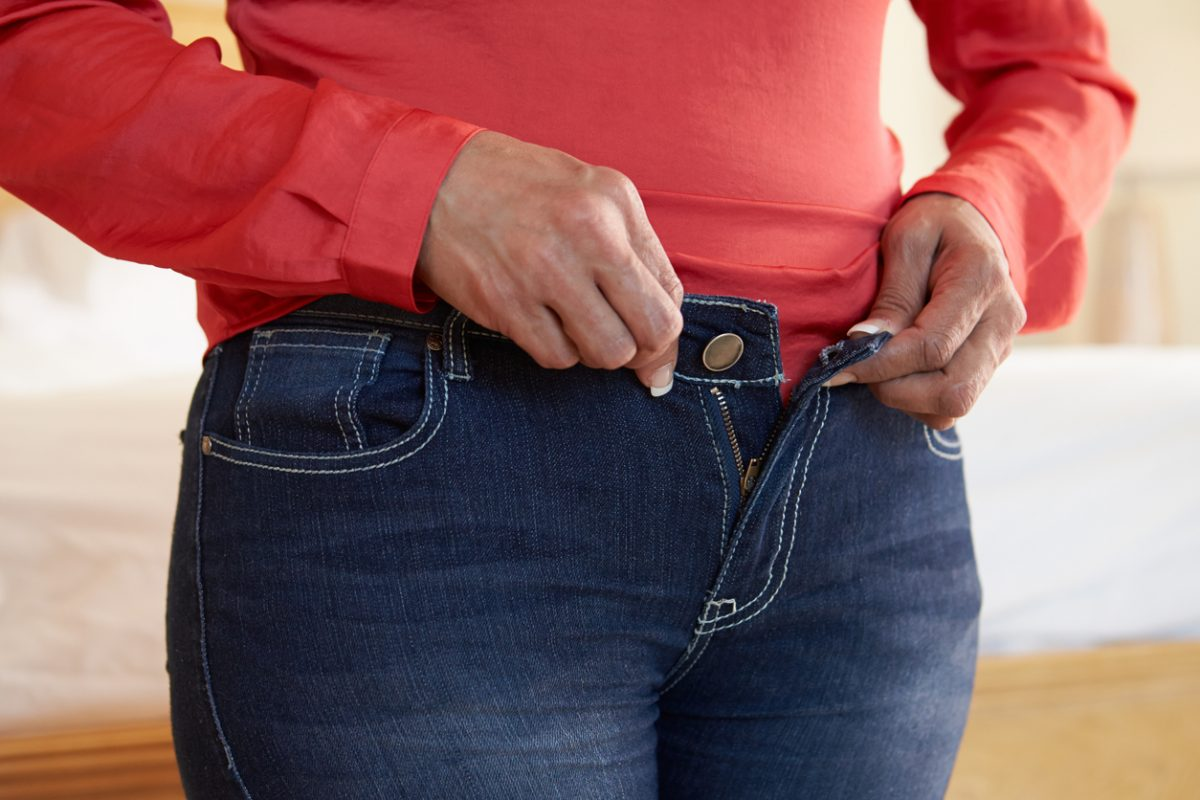 Women store more fat in their midsection after menopause.