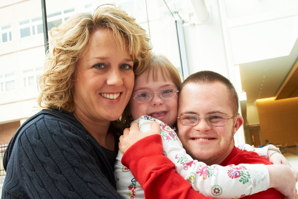 Stephanie Pratico, a program manager at Children's Hospital of Philadelphia and chairwoman of the New Jersey Council on Developmental Disabilities, with children Sara and John.