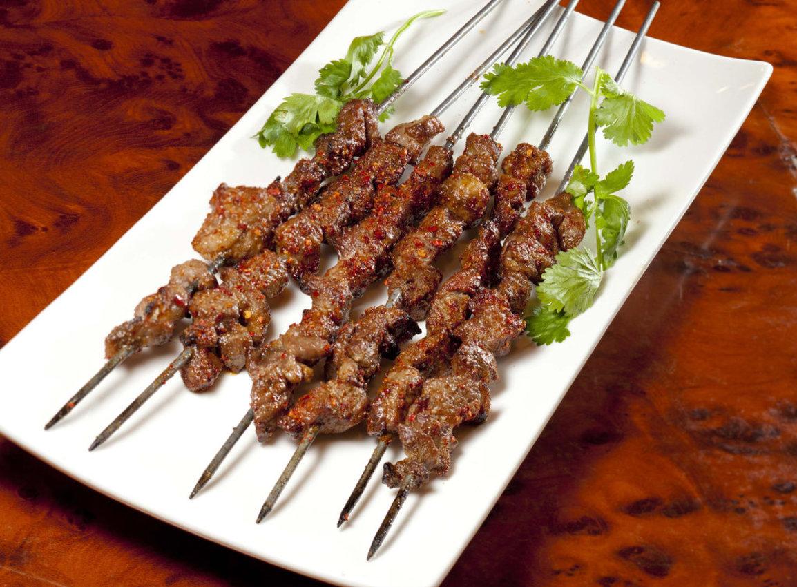 BBQ lamb skewers with cumin spice at Xi´an Sizzling Woks.