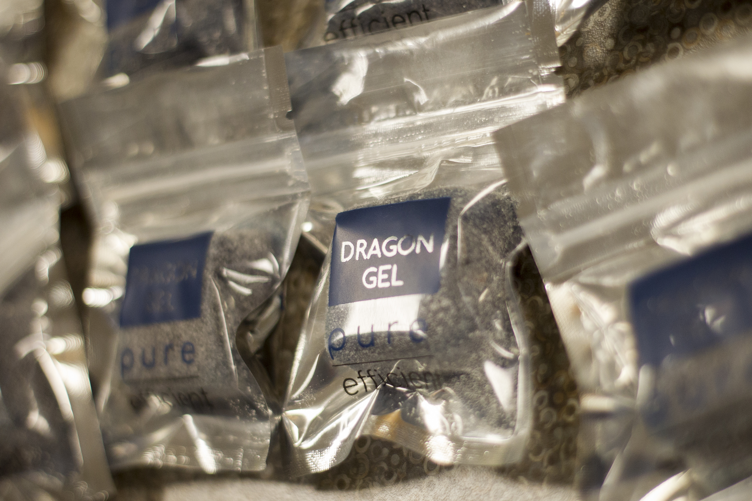 Dragon Gels are a sports snack that helps replenishes muscle glycogen stores that are depleted during competition.
