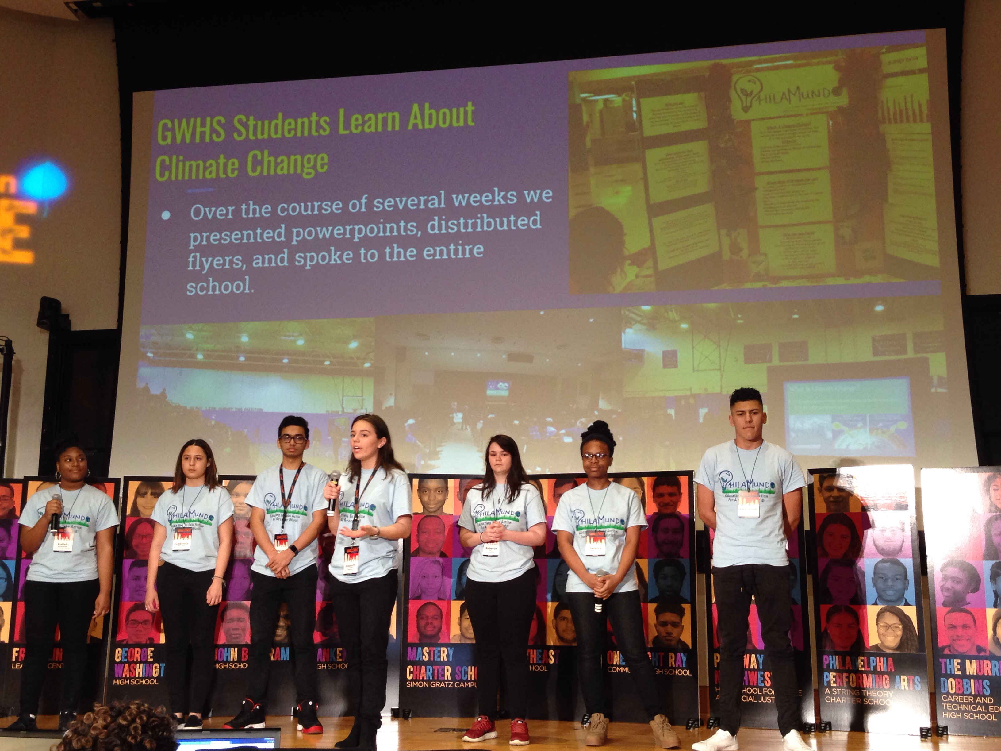 George Washington High School students worked on a campaign to encourage people to choose tap water over bottled water as a solution to climate change at the Aspen Challenge on April 11, 2018.