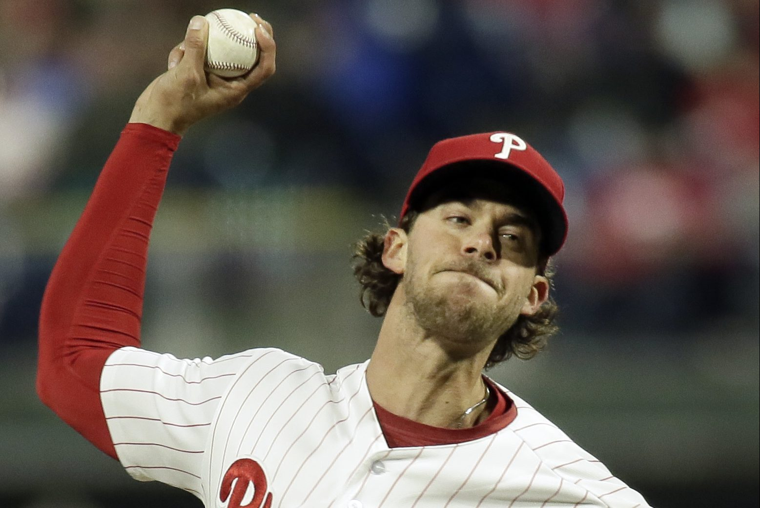 Pitcher Aaron Nola allowed just one run on three hits over eight innings in the Phillies´ 6-1 win over Cincinnati Tuesday night at Citizens Bank Park.