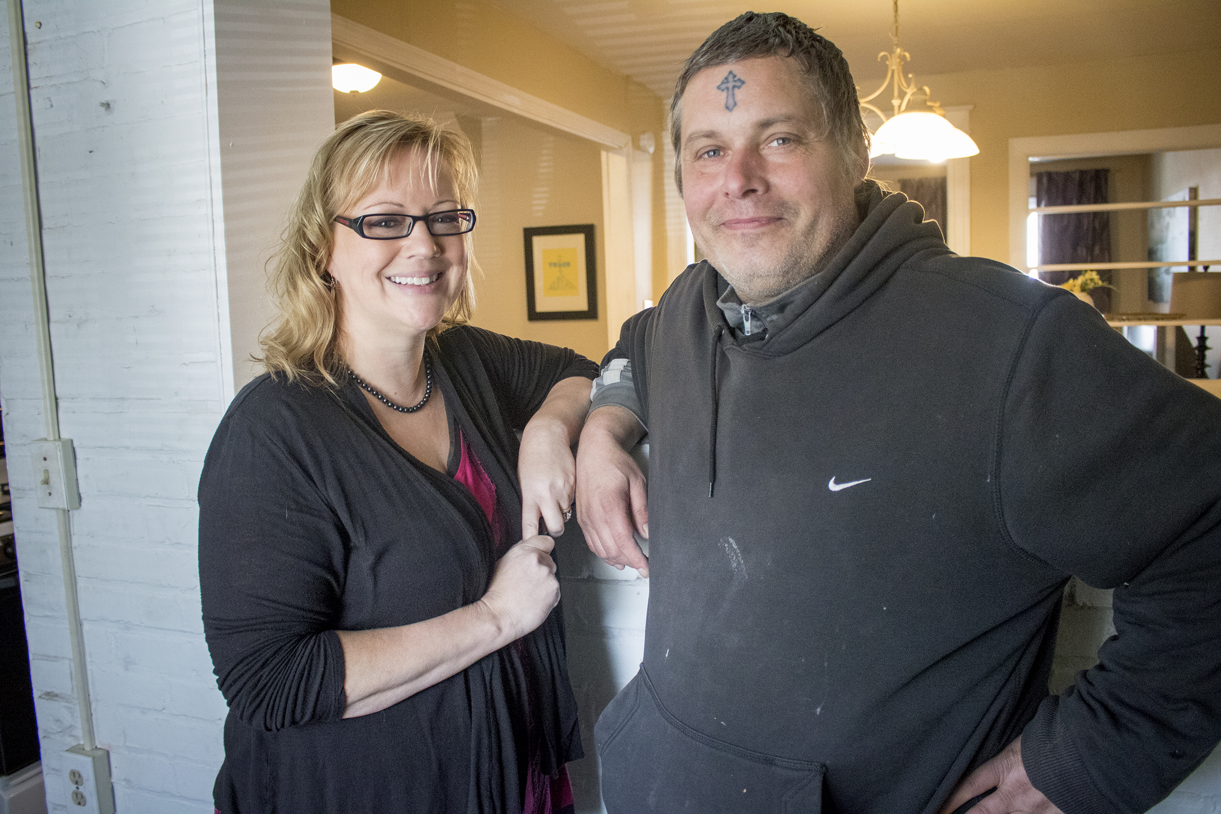 Michelle McHugh got the ball rolling with crowd-sourcing a new home for Jon, who had been homeless. ANTHONY BELTRAN / Staff Photographer.
