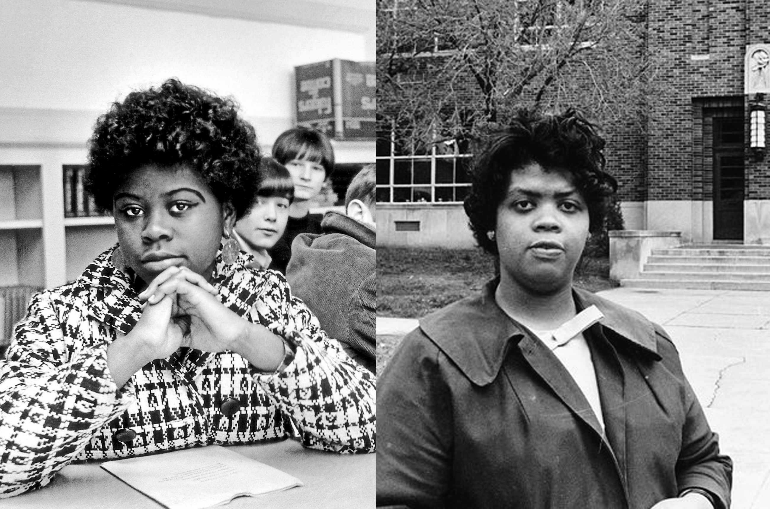 At left, the incorrect photo that AP posted. On right, the real Linda Brown.