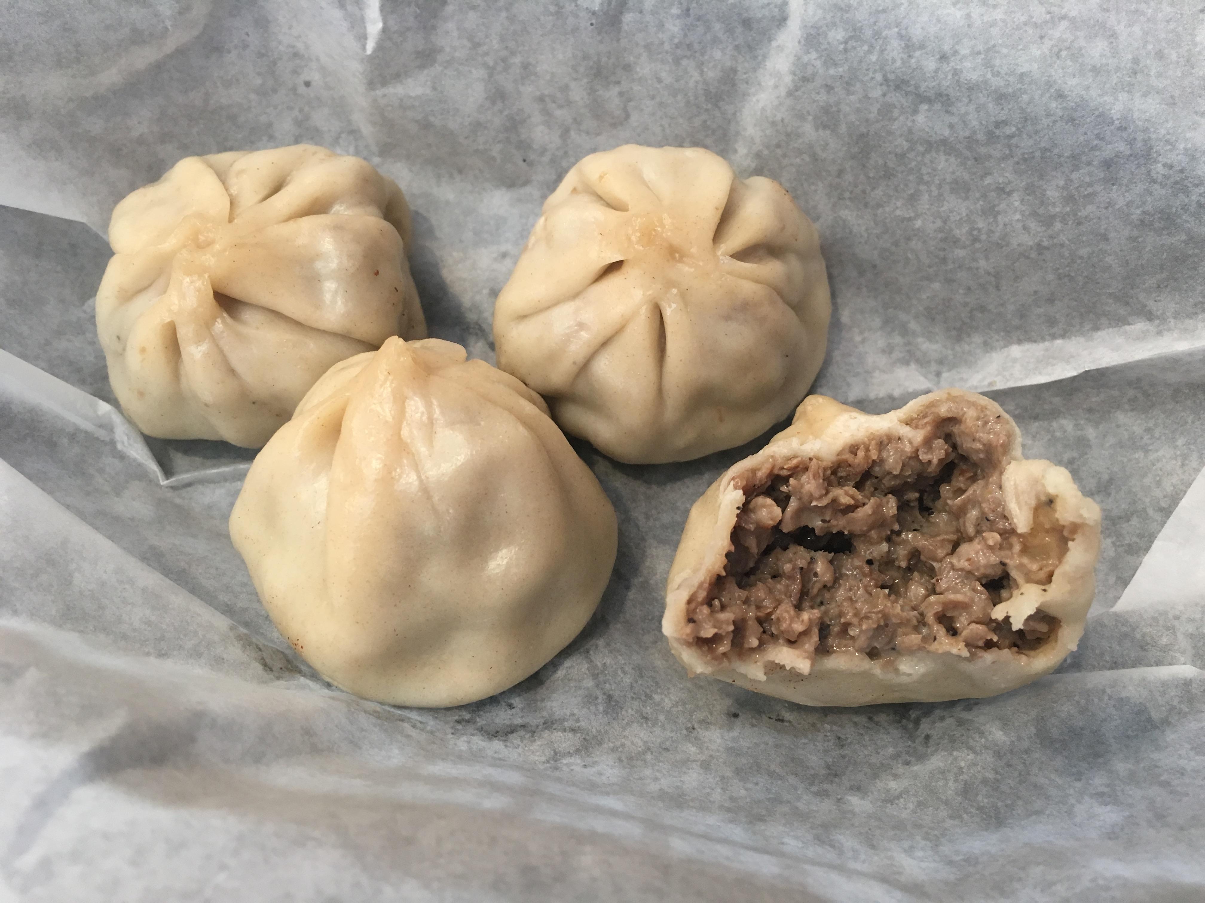 Cheesesteak dumplings (steamed, upon request) from Humpty´s Dumplings, 705 E. Passyunk Ave.