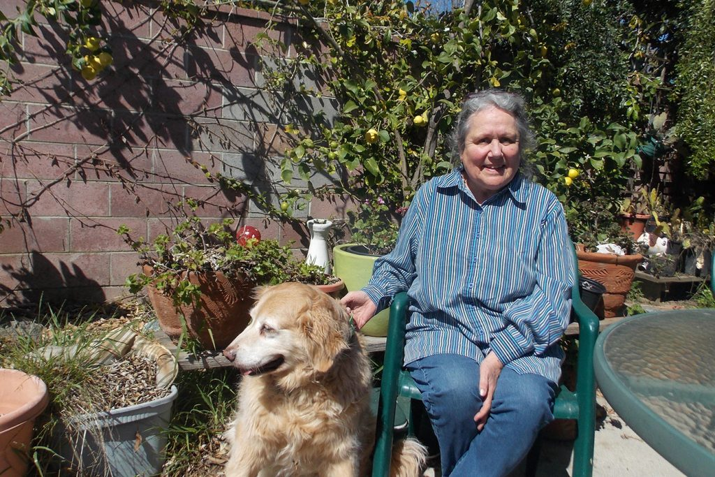 Inez Shakman lives in Ventura, Calif., and was recently diagnosed with chronic obstructive pulmonary disease, or COPD. She walks her dog, Joy, when she can but gets winded easily.