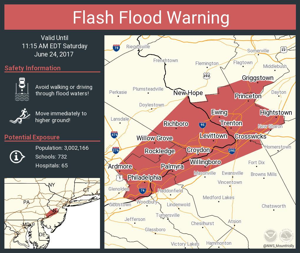 Flash Flood Warning map.